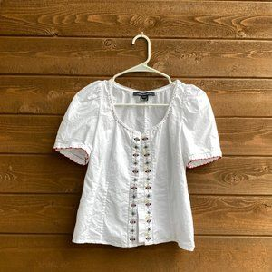 French Connection Peasant Top Short Sleeve